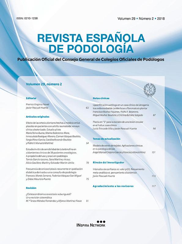 Portada de la revista Española de Podología